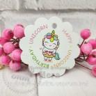 Купить  Бирка Happy Unicorn Birthday от 5 шт  в  Мыльная фабрика