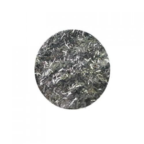 Купить  Глиттер серебрянный люрикс, 5 гр  в  Мыльная фабрика