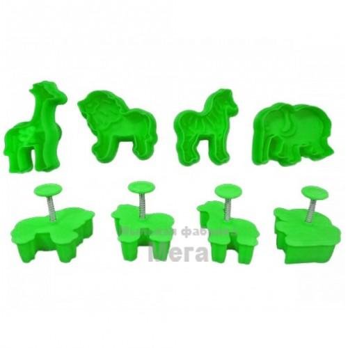 Купить  Плунжер для мастики Звери (набор 4 шт)  в  Мыльная фабрика