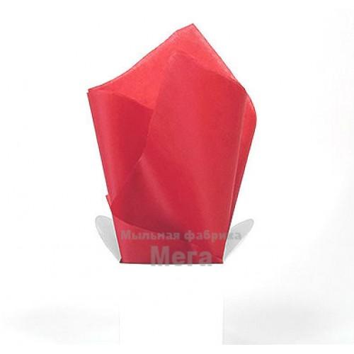 Купить  Бумага тишью Темно красный, 1 лист  в  Мыльная фабрика