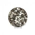 Купить  Глиттер фигурный Звезда серебро, 1 кг  в  Мыльная фабрика