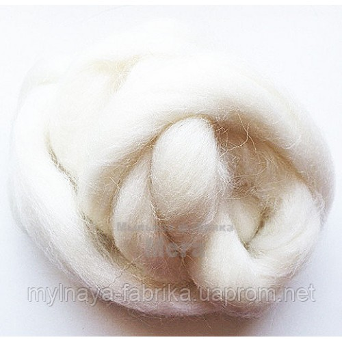 Купить  Австралийский меринос Белый 24 микрона 25гр  в  Мыльная фабрика