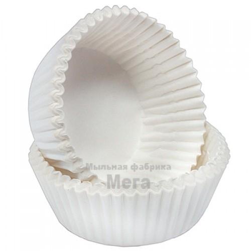 Купить  Бумажная форма для маффинов и капкейков Белый пух, 25 шт  в  Мыльная фабрика