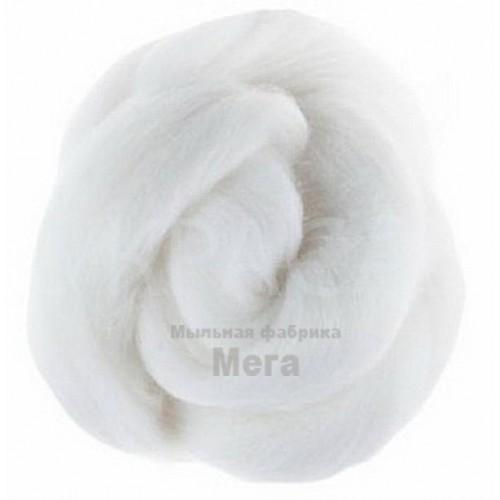Купить  Австралийский меринос 24 мкм белый, 50 гр  в  Мыльная фабрика