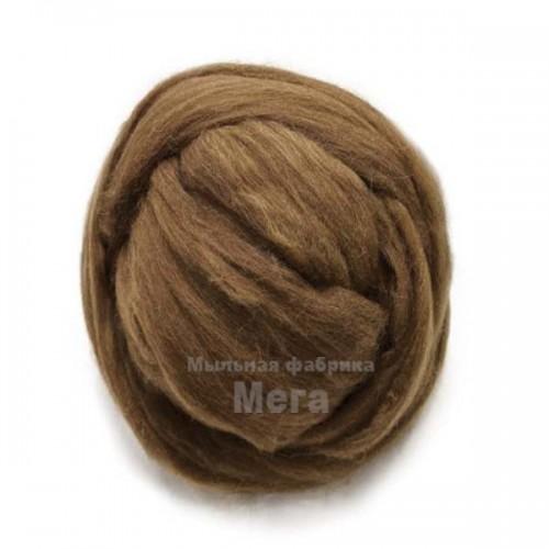 Купить  Австралийский меринос 24 мкм коричневый 50 грамм  в  Мыльная фабрика