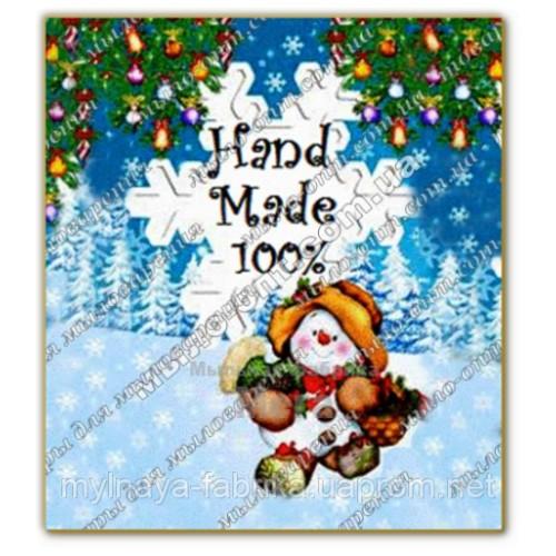 Купить  Бирка декоративная Снеговик  в  Мыльная фабрика