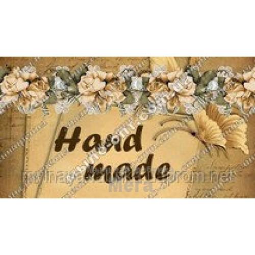 Купить  Наклейка декоративная Розы и бабочки  в  Мыльная фабрика