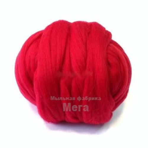 Купить  Австралийский меринос 24 мкм красный, 25 гр  в  Мыльная фабрика