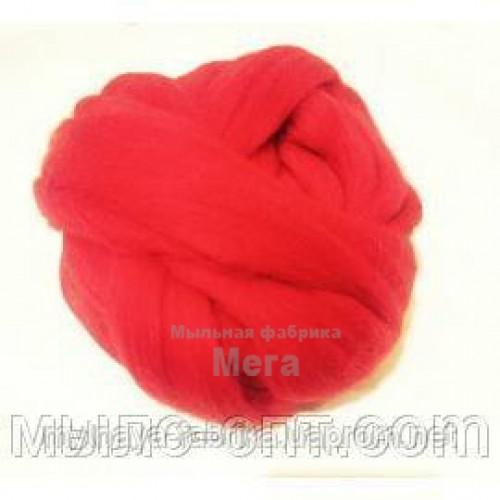 Купить  Австралийский меринос 24 мкм красный - 25 гр  в  Мыльная фабрика