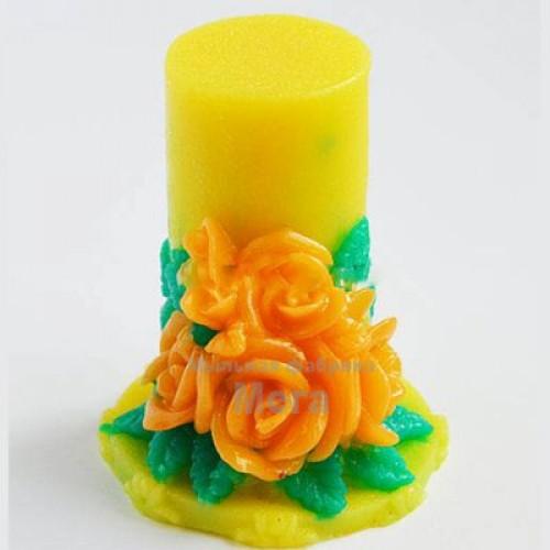 Купить  Силиконовая форма Свеча букет из роз, 3D  в  Мыльная фабрика