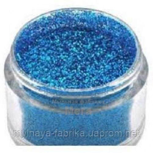 Купить  Блестки пищевые Голубой топаз, 500 грамм  в  Мыльная фабрика