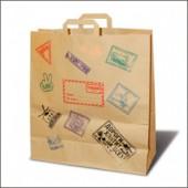Пакеты крафт с принтом